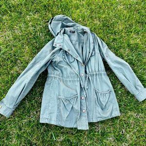 Green grunge kirt jacket military combat 🧥